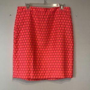 J. Crew Pink Dot Pencil Skirt - NWT!